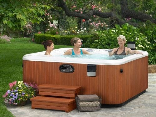 The Benefit Of Saline Hot Tubs Or Saltwater Spas For Maximum Hydrotherapy Hot Tub Outdoor Hot Tub Landscaping Hot Tub Reviews
