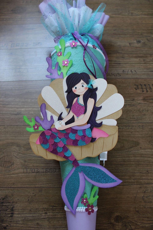 Schultüten für Mädchen Prinzessin Nixe Zuckertüte Meerjungfrau Barbie