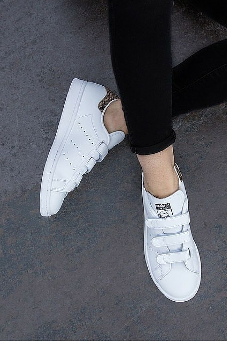 Mininmal chic with white adidas Stan Smith Cf Trainers #simplestyle