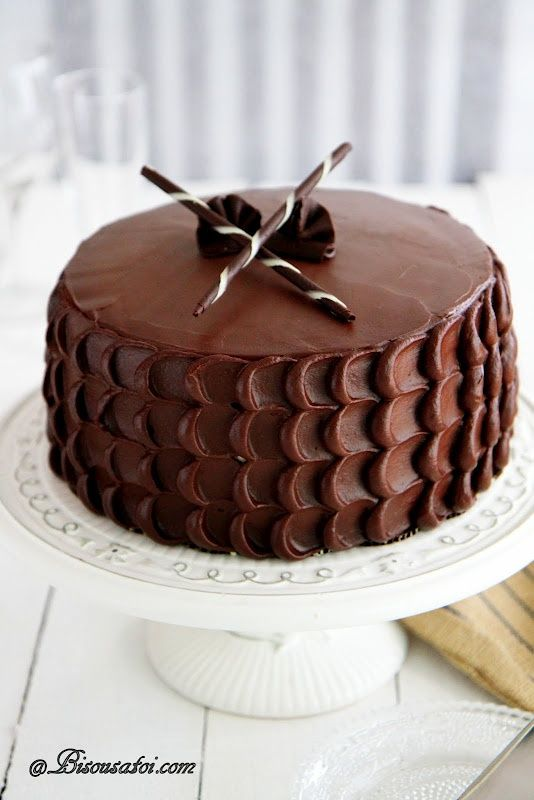 Chocolate Cake with Peanut Butter Frosting...simplicity #food
