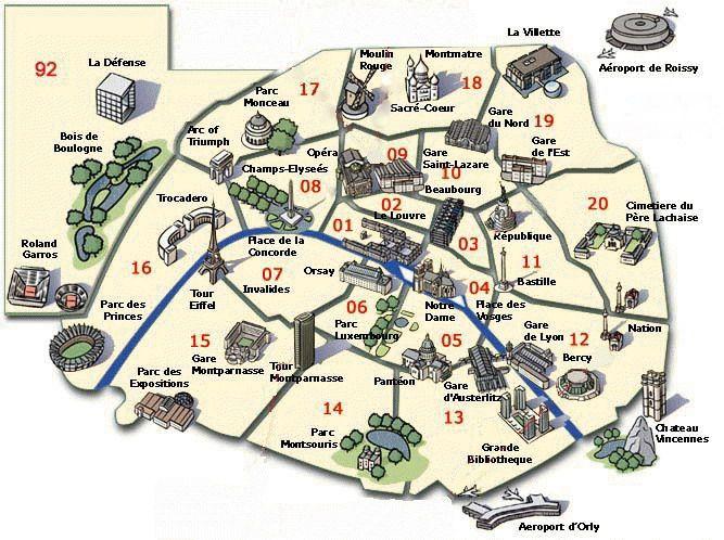 Image Detail For La Carte De Paris Et Du Metro Parisien Paris