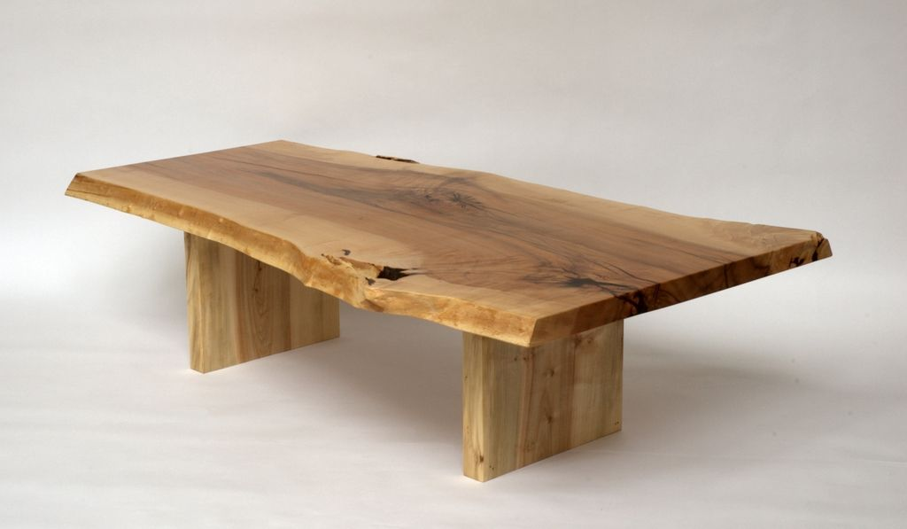 Sugar Maple Live Edge Coffee Table Created From A Single Slab Of Walnut  Salvaged From Orangeville