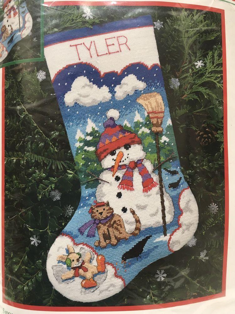 Dimensions Christmas Needlepoint Stocking Kit Snowman