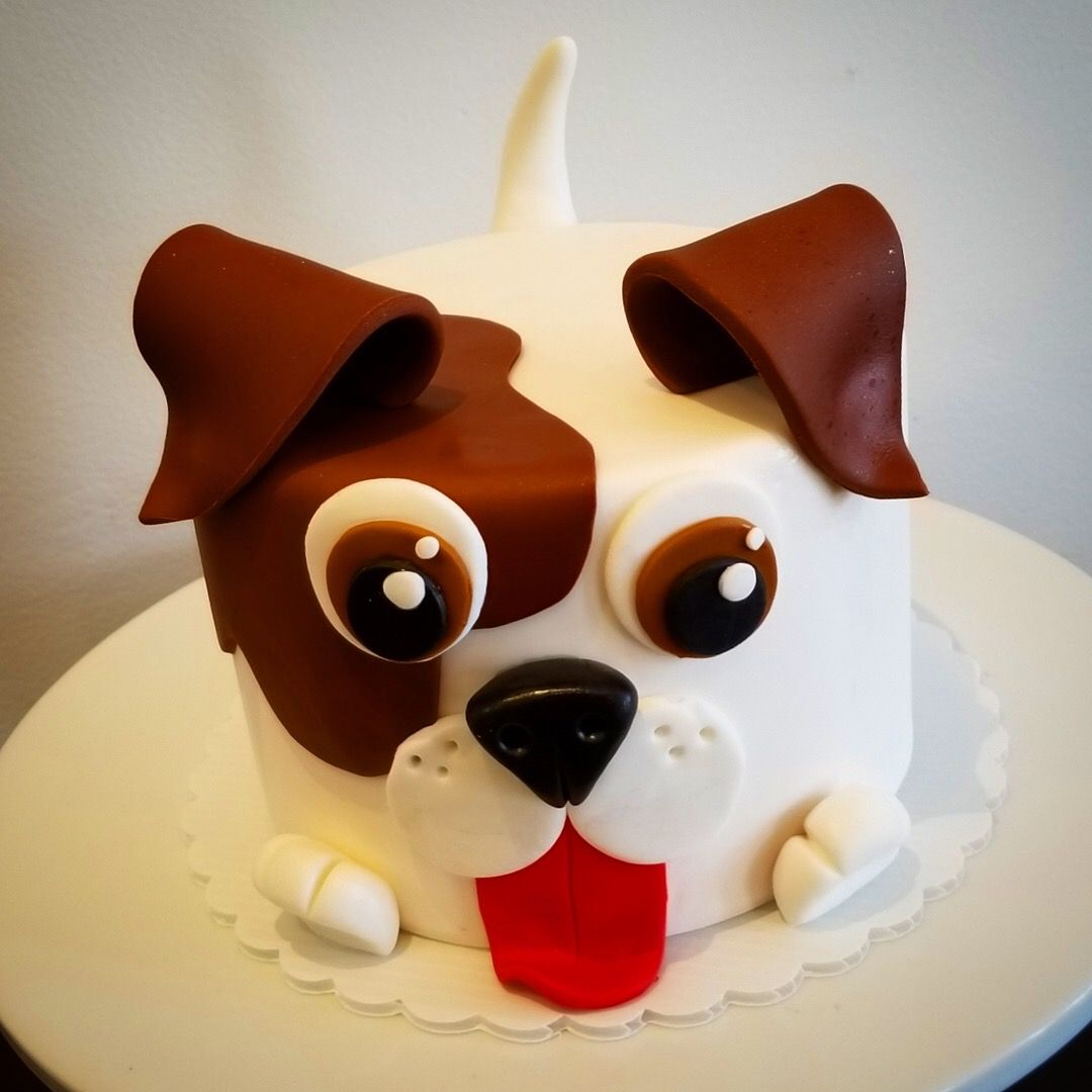 Astounding Puppy Cake Woof Puppy Birthday Cakes Puppy Cake Dog Birthday Cake Personalised Birthday Cards Veneteletsinfo