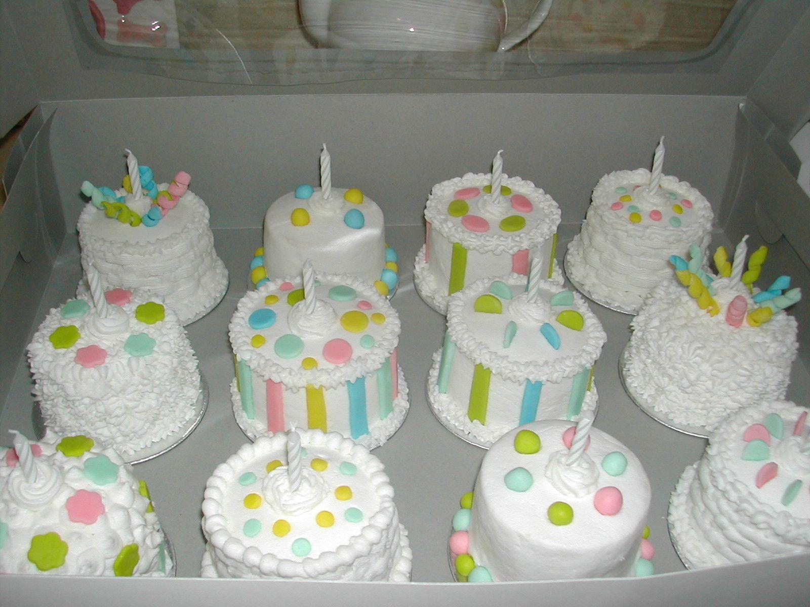 Mini Birthday Cakes Mini Birthday Cakes mini cakes Pinterest