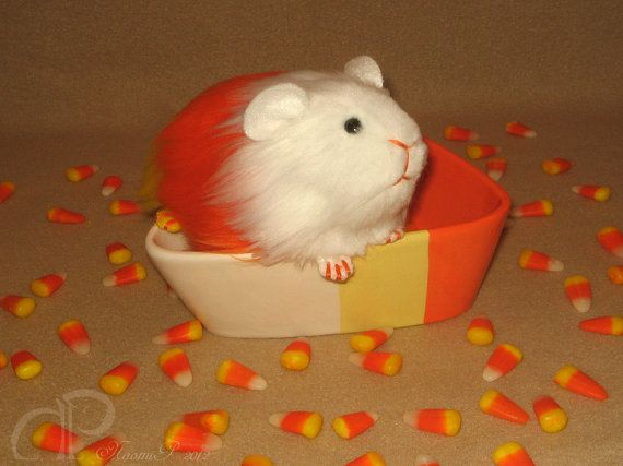 Little Candy Corn Guinea Pig Plushie by Morumoto on Etsy