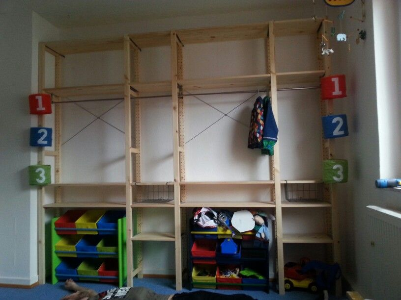 kleiderschrank f r 2 ikeahack ivar kinderzimmer wohnung gestalten. Black Bedroom Furniture Sets. Home Design Ideas