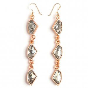 Callie Earrings, Rose Gold