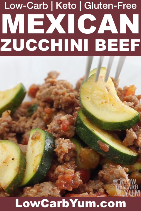 Photo of Mexican Zucchini and Beef Skillet