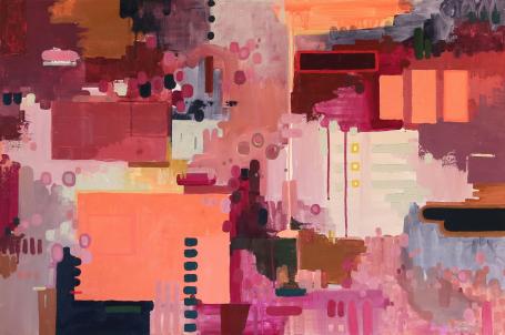 """Lucy Reiser Williams, """"Here's To You, Elliot"""", Acrylic on Canvas, 24x36 - Anne Irwin Fine Art #annemeetsinsta"""