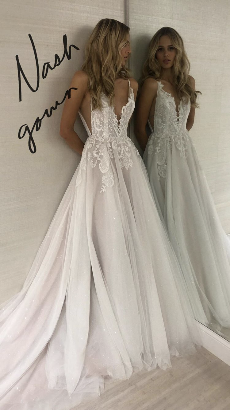 4677946498d6b Nash gown by Hayley Paige Instagram stories October 12th 2018 ...