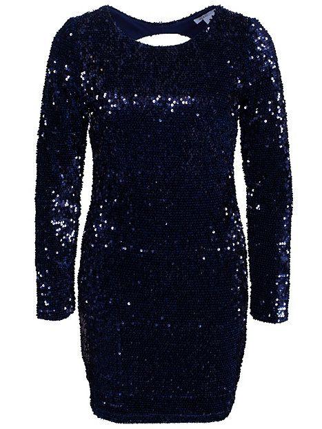 cb6801d75b86 Velvet Sequin Open Back - Nly One - Navy - Festklänningar - Kläder - Kvinna  -
