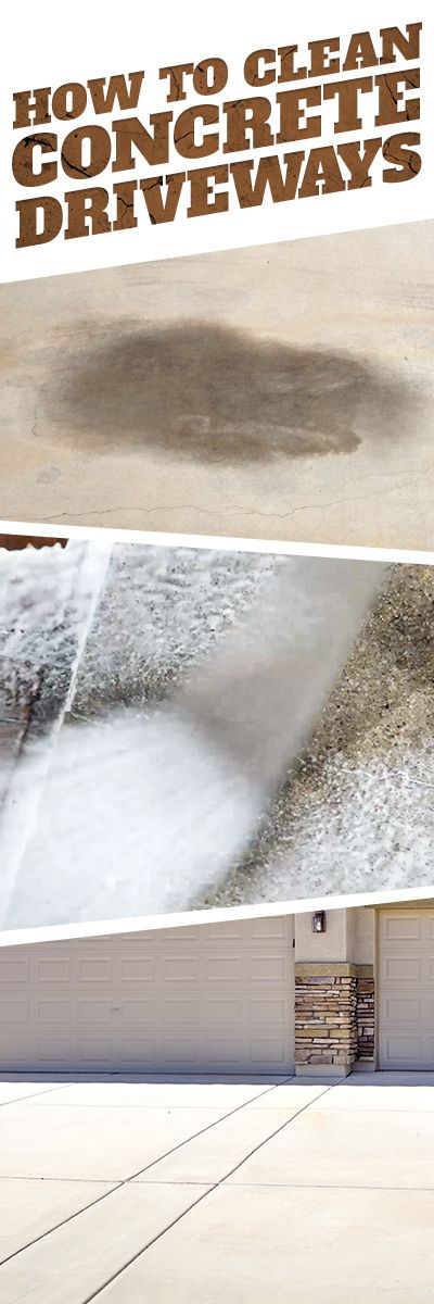 How To Clean Concrete Driveways Cleaning Tips Cleaning