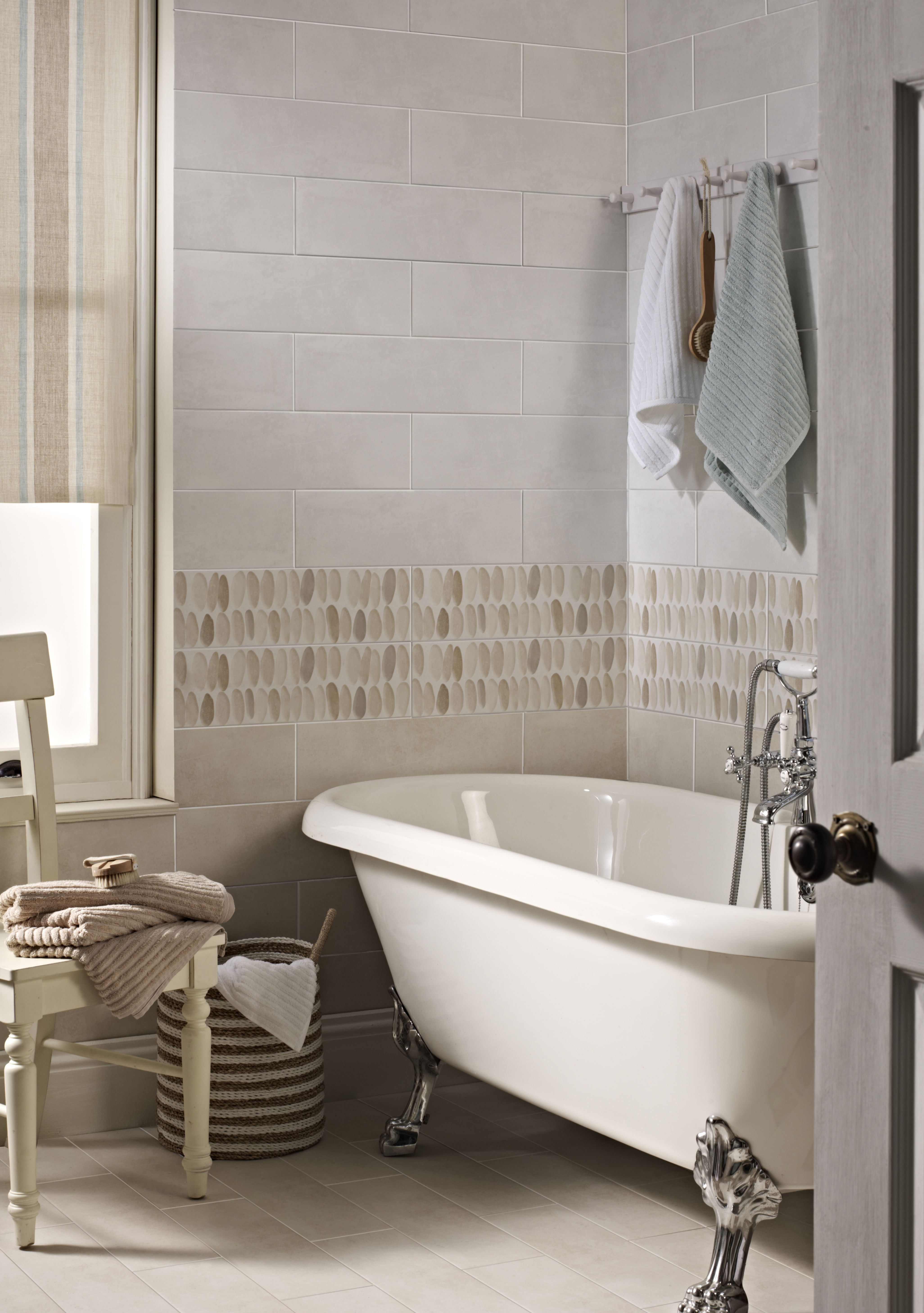 Laura Ashley Coastal Natural, White, and Wallace Decor tiles from ...
