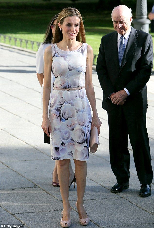 Queen Letizia of Spain looks summery in Hugo Boss as