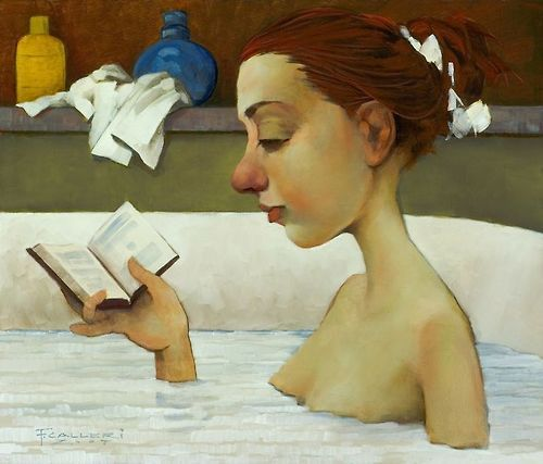Relaxing and reading / Relax y lectura (ilustración de Fred Calleri)