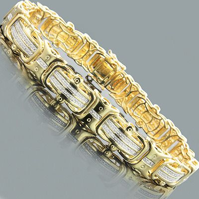Mens Silver Bracelet With Diamonds 0 30ct Gold Plated Mens Bracelet Silver Mens Gold Bracelets Gold Chains For Men