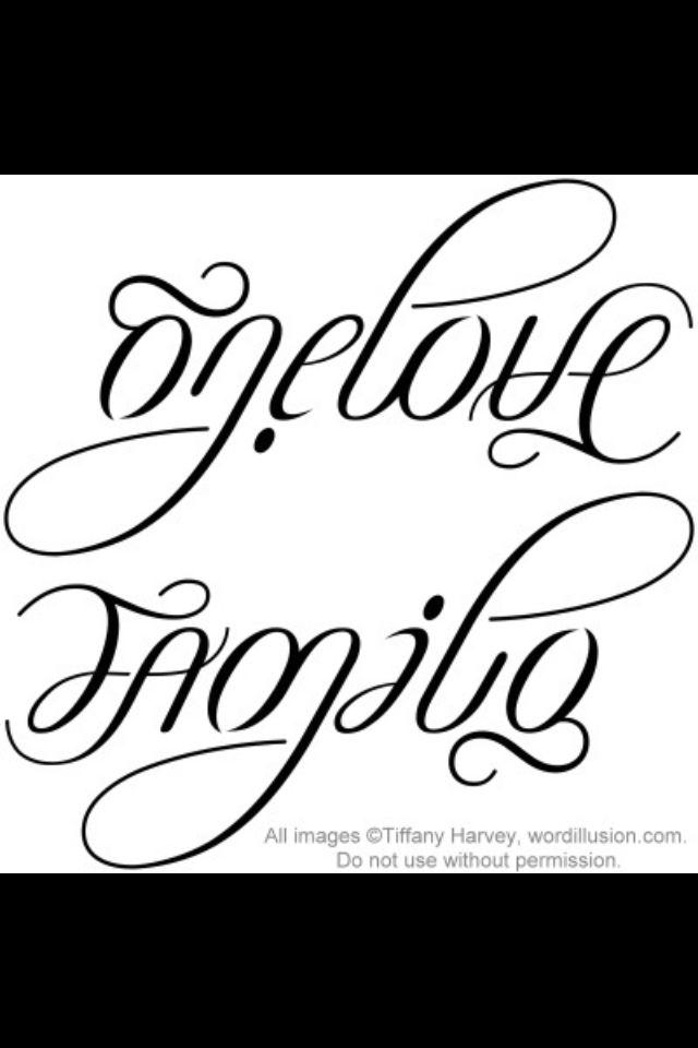 One Love Family Tattoo : family, tattoo, Family/, Forever, Tattoo,, Ambigram, Tattoos