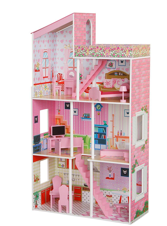 Plum Tillington Wooden Dollhouse over 3 feet