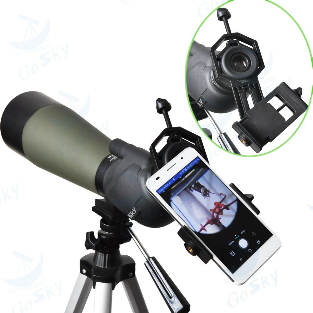 Record The Beautiful Life Compatible Binocular Monocular Spotting Scope Telescope Microscope Fits Almost All Smartphone Universal Phone Adapter Mount