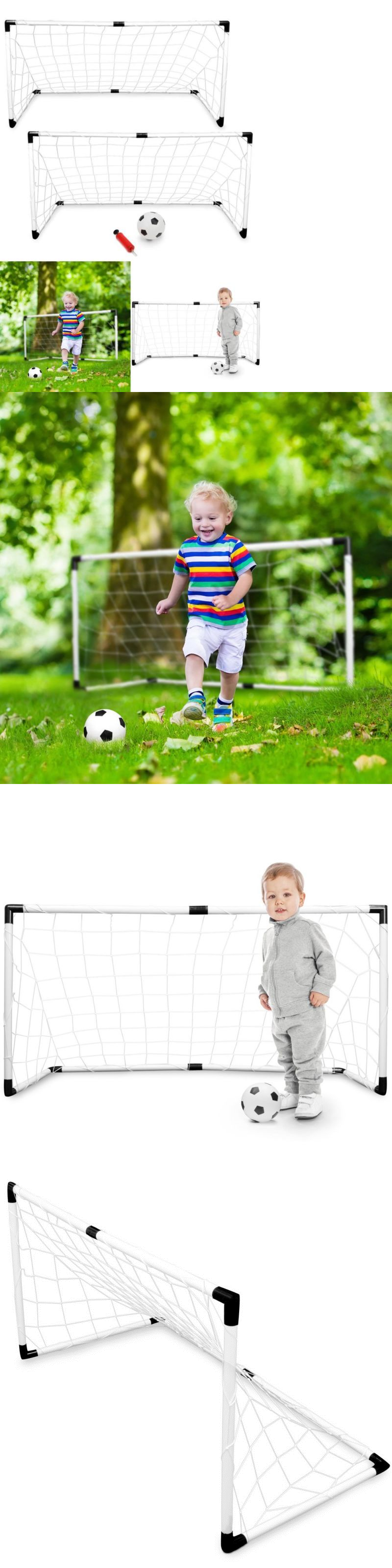 goals and nets 159180 set of 2 soccer goal for backyard toddlers
