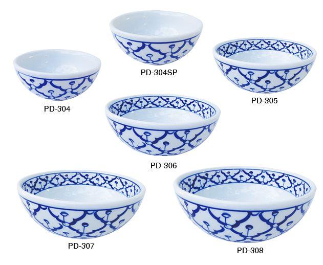 Soup Bowls Thai Ceramic Ware Hand Painted Ceramic Ware