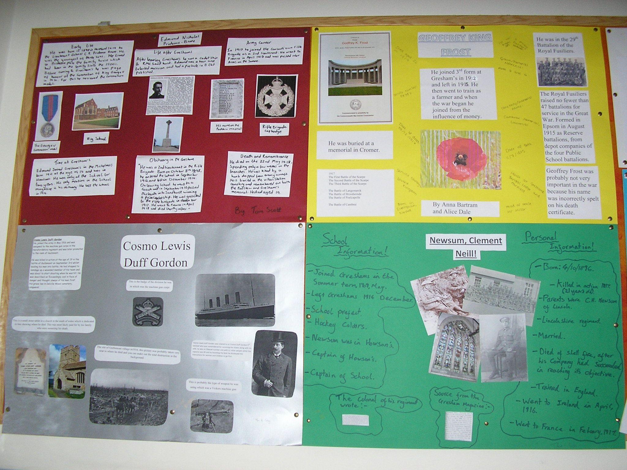 World War 1 Classroom Display | World War 1 Classroom Displays ...