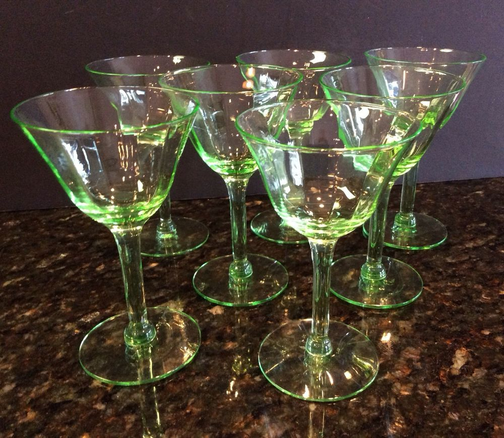 7 optic green depression glass cordial sherry aperitif glasses 7 optic green depression glass cordial sherry aperitif glasses goblets stemware reviewsmspy