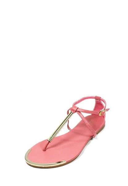 METALLIC T-STRAP FLAT SANDALS $15.90 this shoe comes in all different colors