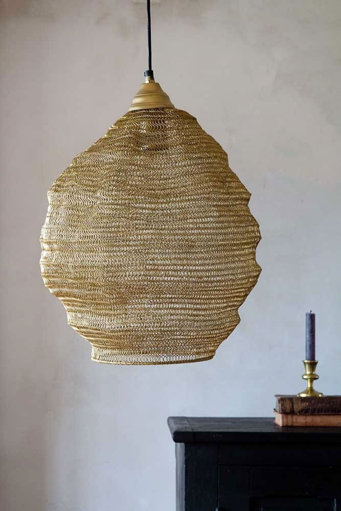 Beehive Metal Mesh Pendant Light Antique Gold In 2020 Gold Ceiling Light Gold Light Shade Metal Mesh