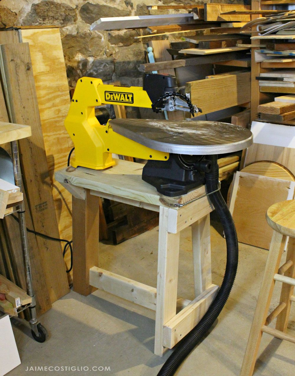 My Scroll Saw Set up & Stand Free Plans Scroll saw