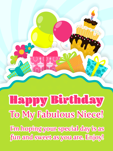 You Re Fabulous Happy Birthday Card For Niece Birthday Greeting Cards By Davia Niece Birthday Wishes Birthday Cards For Niece Happy Birthday Niece