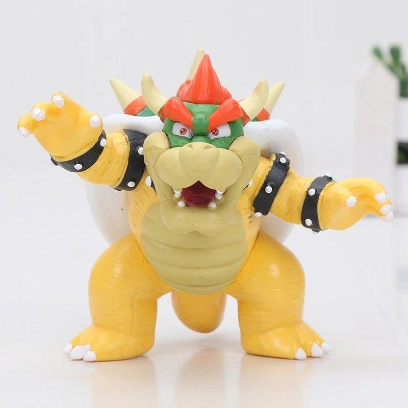 Bowser King Koopa Super Mario Bros Pvc Action Figure Doll