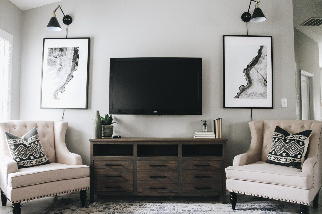 How To Hide Your Tv Cords Within The Grove Living Room Spaces Living Room Tv Trending Decor