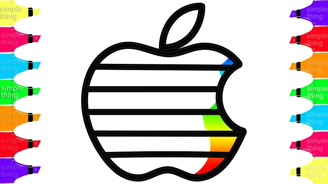How To Draw Colorful Bitten Apple
