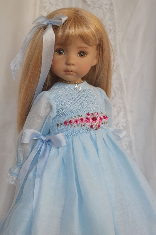 "Smocked Ensemble for Effner 13"" Little Darling Dolls by Petite Princess Designs"