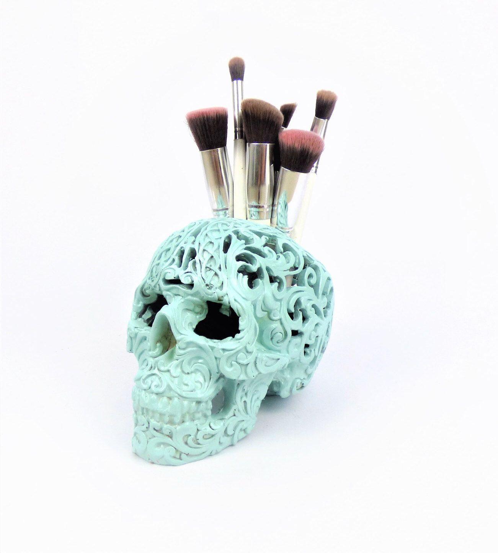 Carved Tribal Skull, Skull, Makeup Assessories, Painted