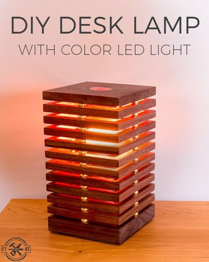 Diy Desk Lamp With Color Changing Led Light