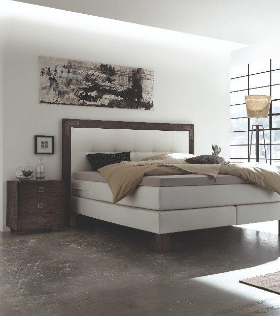 Hasena Pronto Memphis #Boxspringbett in #Akazie Grau, Bezug aus - schlafzimmer einrichten beige