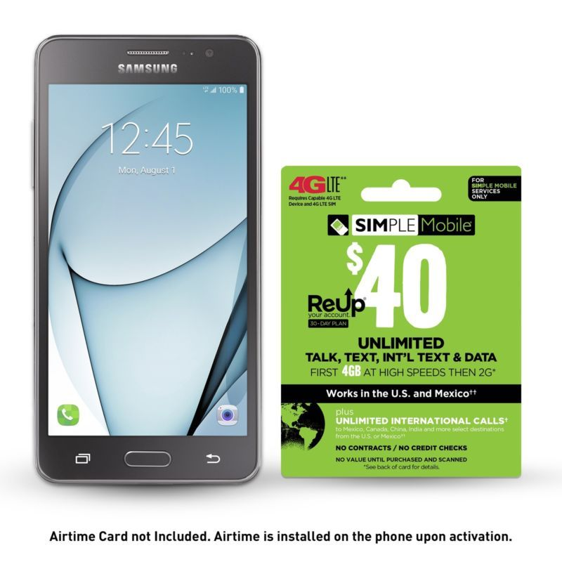 Simple Mobile Samsung On5 Free 30 Days 40 Unlimited Plan Buy
