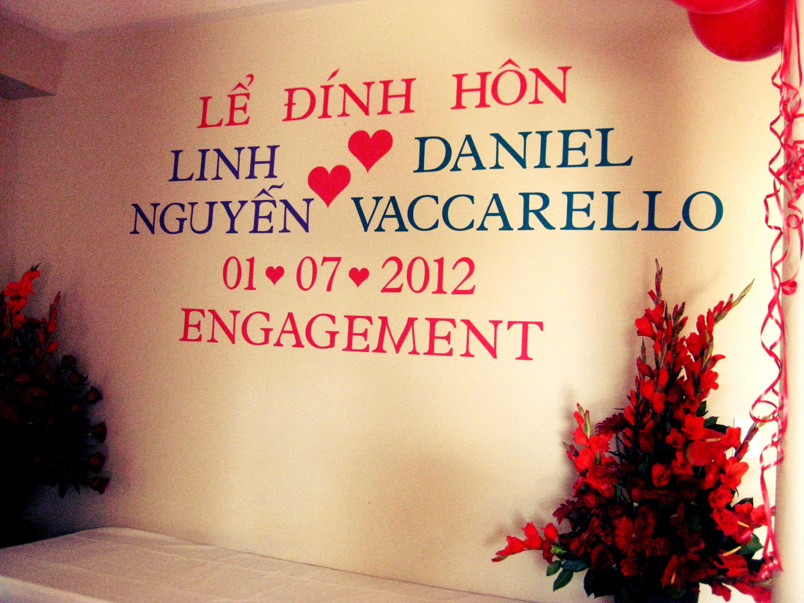 Vietnamese engagement wall! | Dam hoi | Pinterest | Engagement ...
