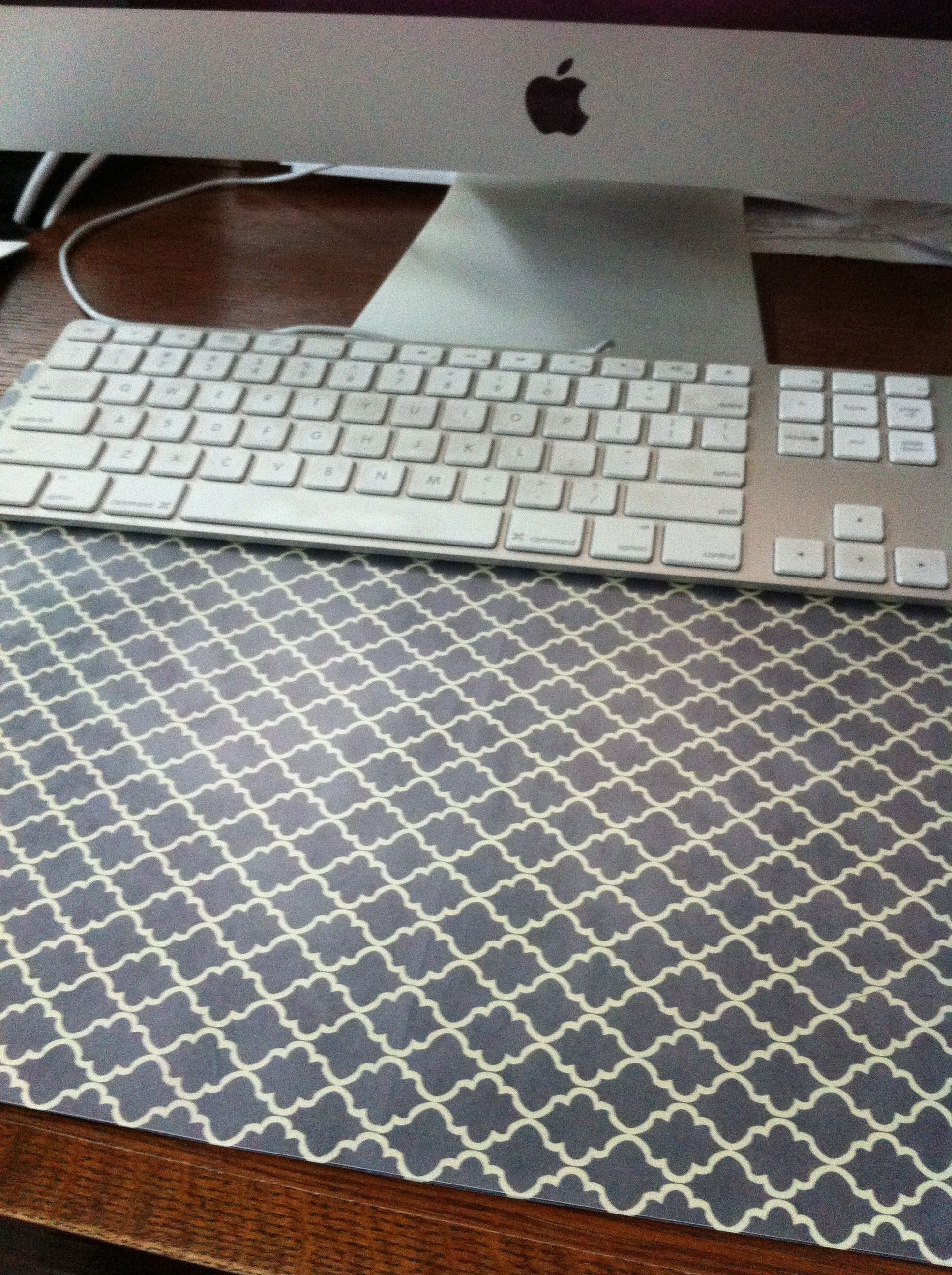DIY desk pad, my version I used scrapbooking paper and quilter\'s ...