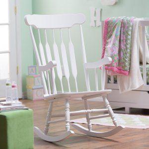 Belham Living Wood Nursery Rocker - White - Indoor Rocking Chairs at ...