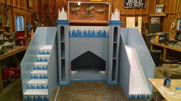 Frozen Themed Castle Bunk Bed Playhouse Space Is Needed In The