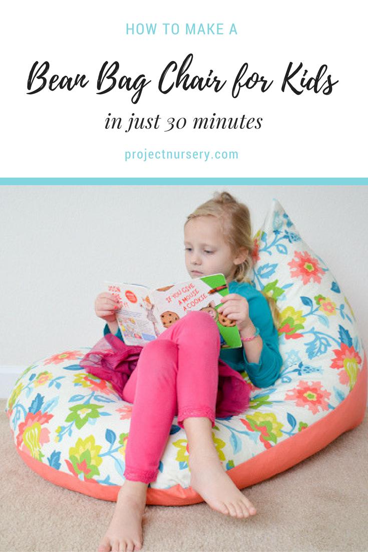 Diy Sew A Kids Bean Bag Chair In 30 Minutes Kid Rooms