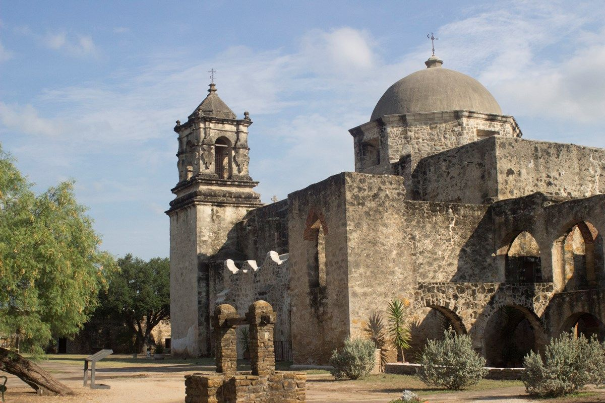 Mission San José. View of the historic church. (With