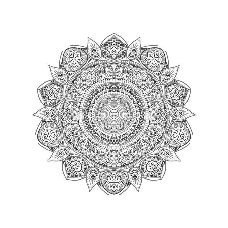 Printable Mandala for Coloring