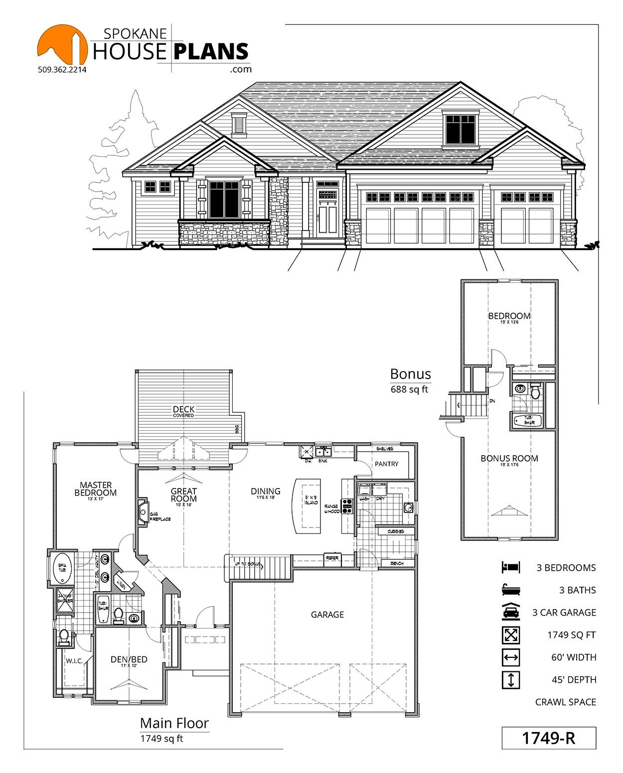 1749 R House Plans How To Plan Modern House Design