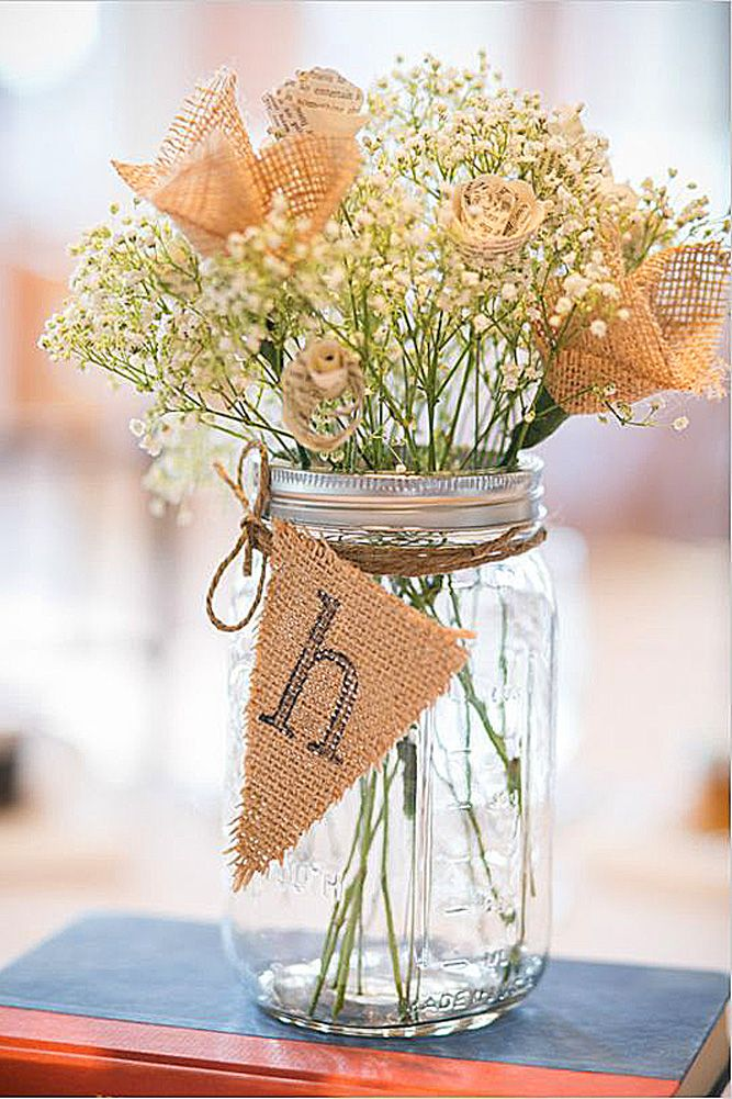 30 Gorgeous Mason Jars Wedding Centerpieces | Mason jar weddings ...
