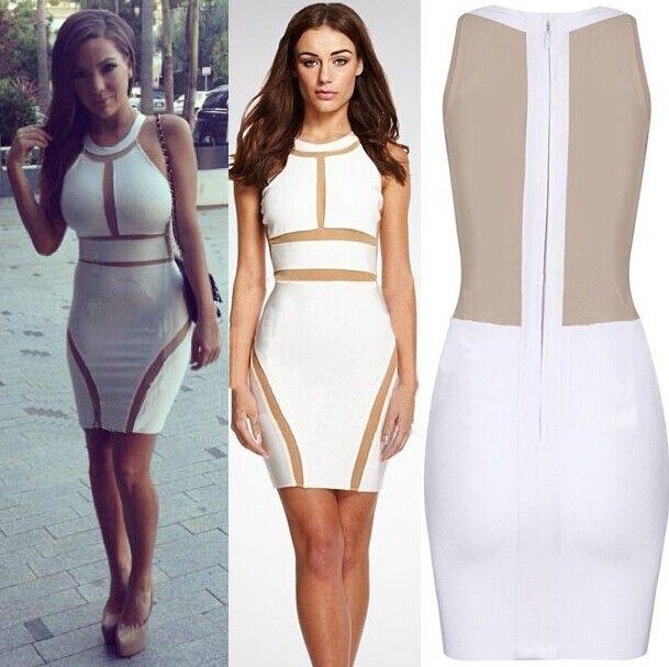 White bandage dress cheap